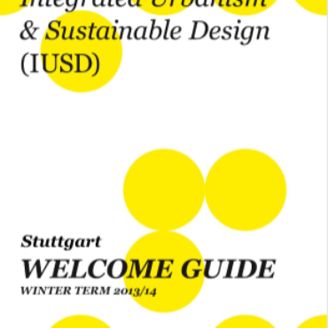 Cover of the IUSD welcome guide of winter term 2013/2014 Stuttgart