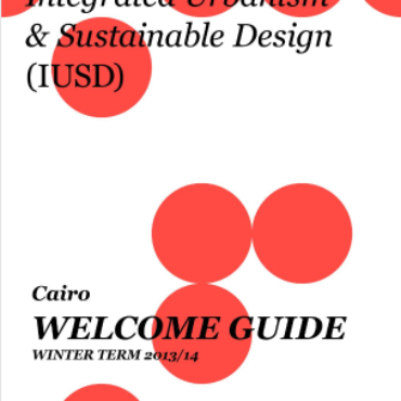 Cover of the IUSD welcome guide of winter term 2013/2014 Cairo